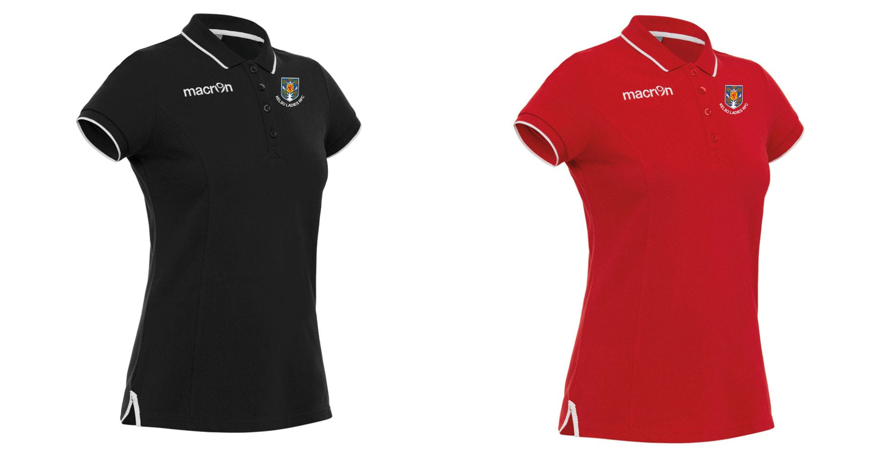 Kelso RFC Ladies Rugby Macron Hambo Poloshirts  Lady Fit