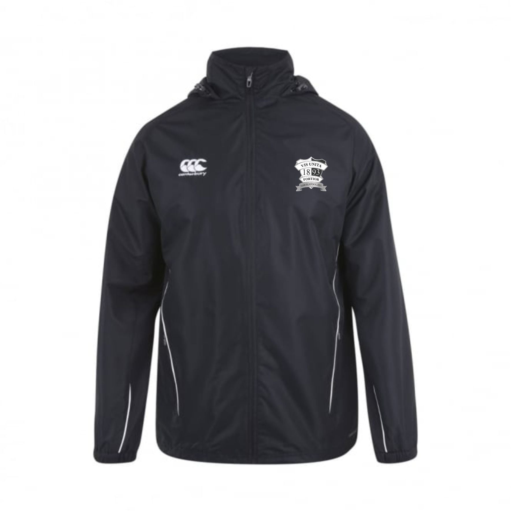 Hartlepool RFC CCC Full Zip rain Jacket Junior