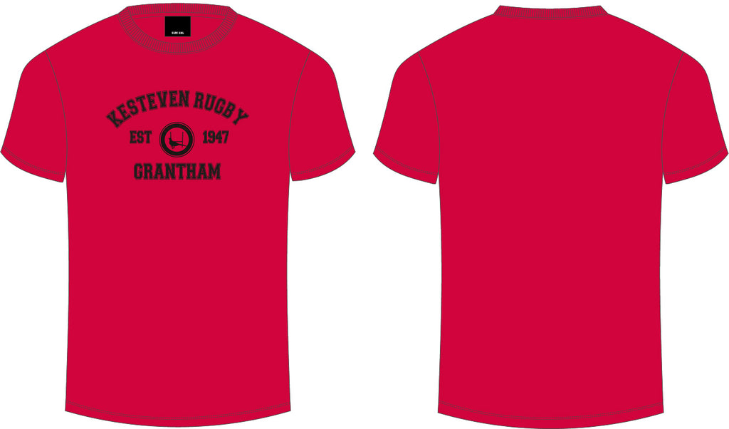Kesteven RFC Red Club Tee Senior Men