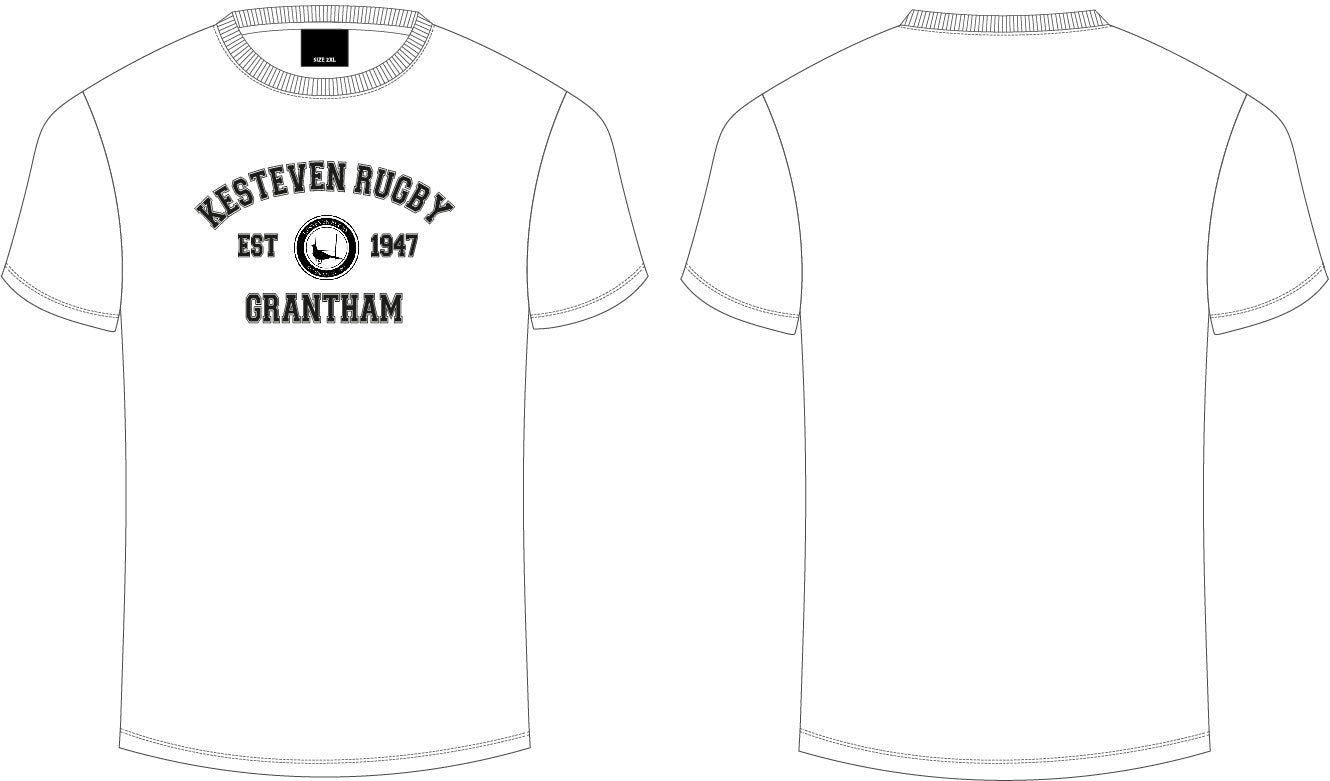 Kesteven RFC White Club Tee Senior Men