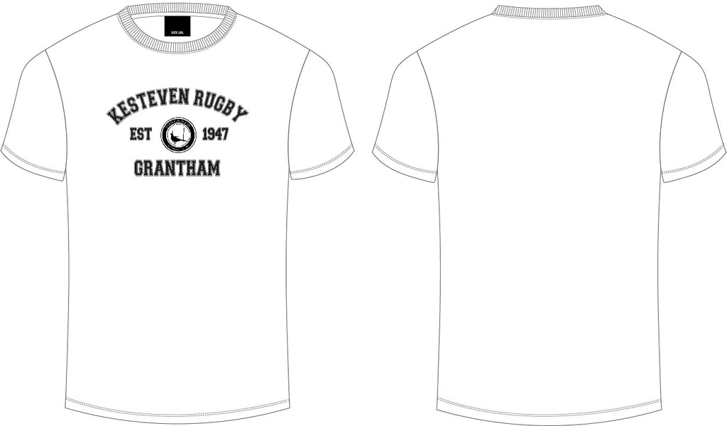 Kesteven RFC White Club Tee Junior / Youths