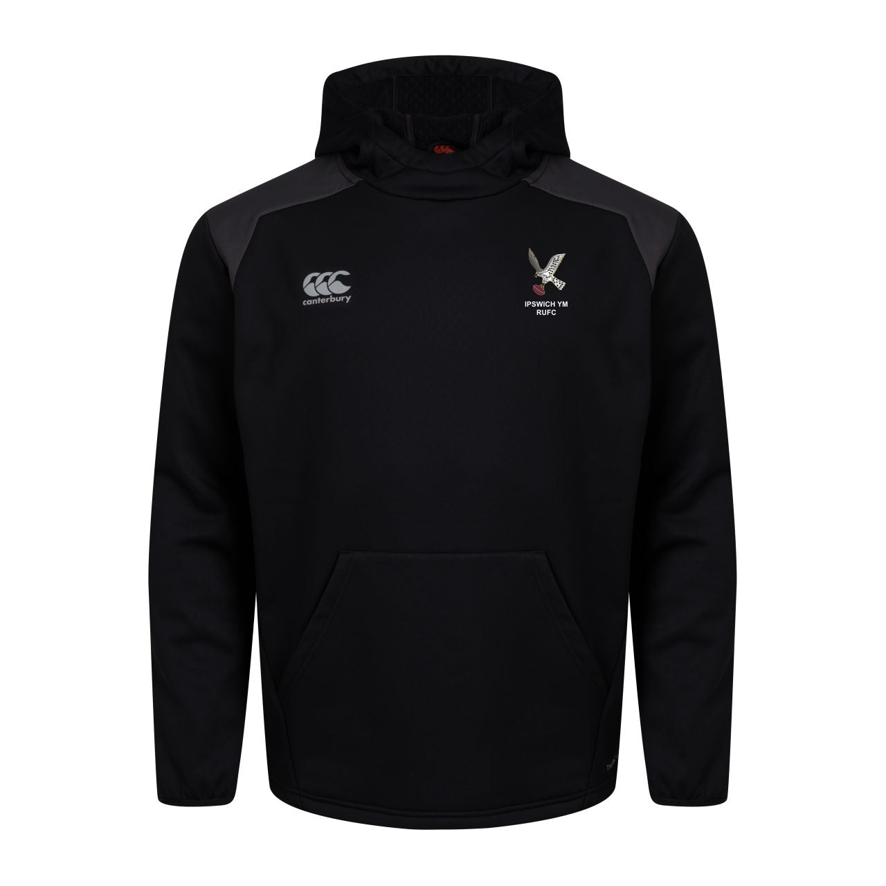 IPSWICH YM RUFC CCC PRO II THERMOREG OVER THE HEAD HOODY