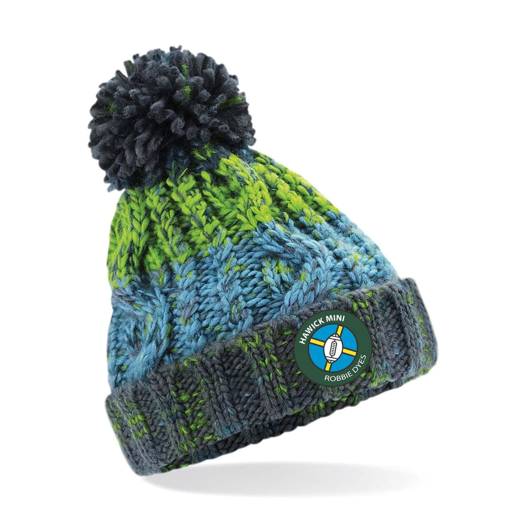 "HAWICK ""MINI ROBBIE DYES"" RFC RGR Snowflake Bobble Senior and Junior"