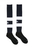 St Chad's College Rugby CCC Navy Team Hooped Socks