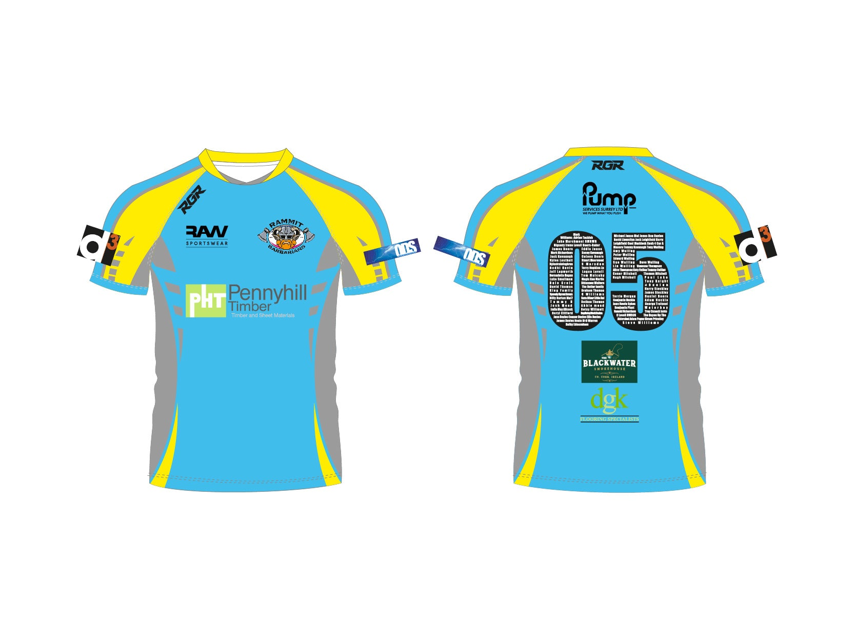 RAMMIT RUGBY RGR MATCH SHIRT