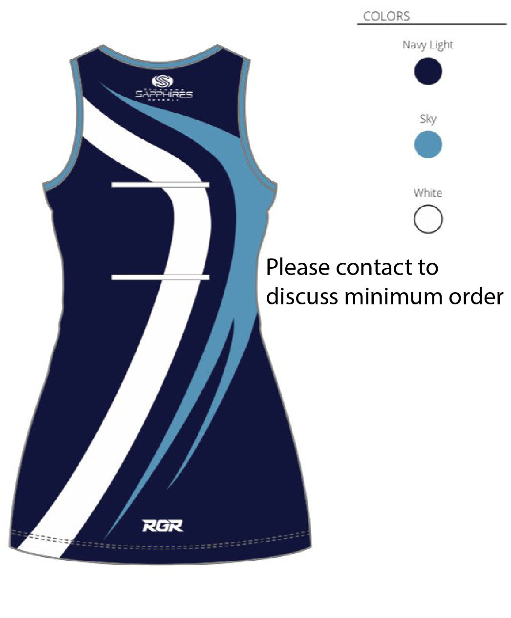 Southend Sapphires Netball Dress Jnr- COMING SOON