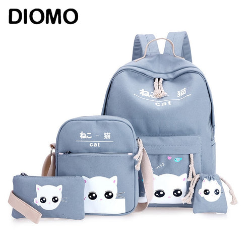 Set of 4 schoolbag / backpack