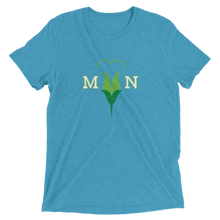 Load image into Gallery viewer, I Love MN Minnesota Heart Flower Tri-blend T-shirt