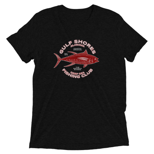 Gulf Shores Alabama Fishing Tri-blend T-Shirt
