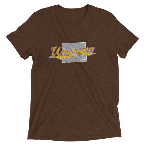 Wyoming Home State Pride Tri-blend T-shirt