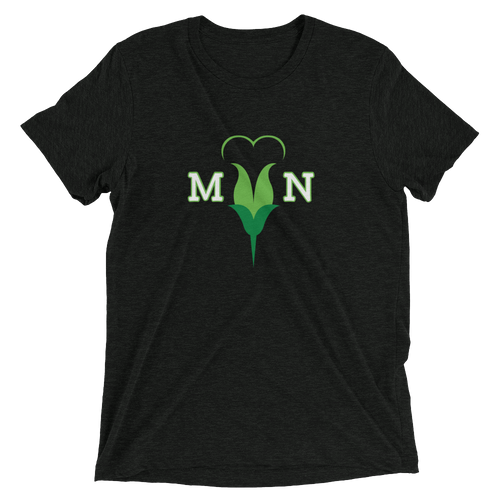 I Love MN Minnesota Heart Flower Tri-blend T-shirt