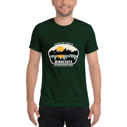 Minnesota Land of Lakes Tri-blend T-Shirt