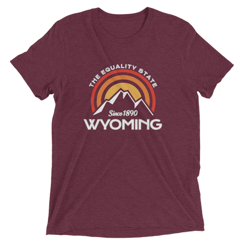 Wyoming Equality State Tri-blend T-shirt