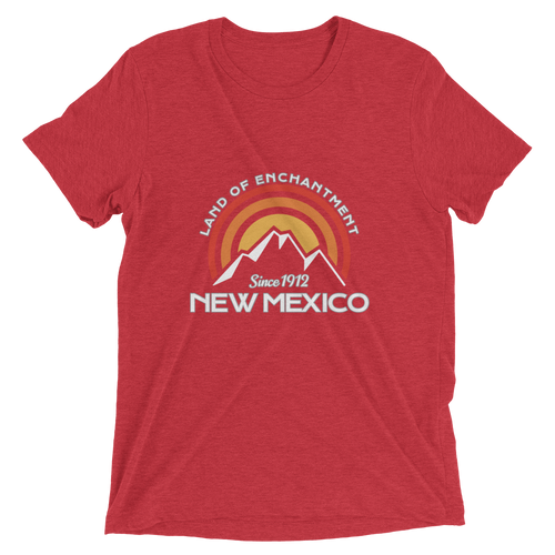 New Mexico Home State Land of Enchantment Tri-blend T-Shirt