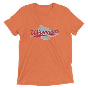 Wisconsin Home State Pride Tri-blend T-shirt