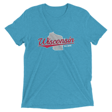 Load image into Gallery viewer, Wisconsin Home State Pride Tri-blend T-shirt