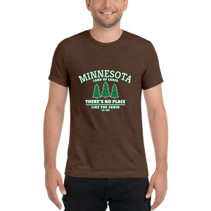 Minnesota Up to the Cabin Tri-blend T-Shirt
