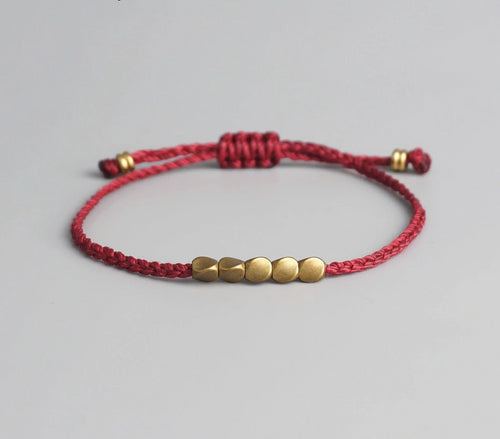 Lucky Bracelet With Golden Decoration