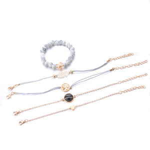 Fashion Bracelet For Women Set / 5 pcs