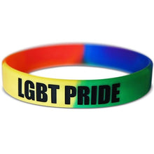 Load image into Gallery viewer, Unisex Silicone Bracelet Rainbow LGBT