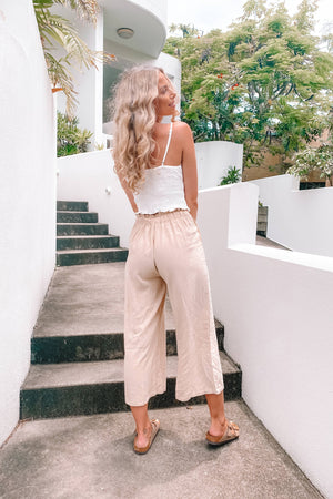 Madison 3/4 Ruffle Waist Pant