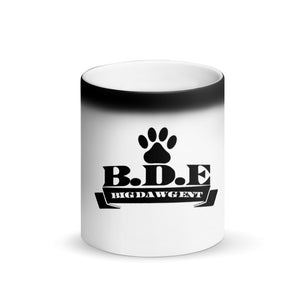B.D.E Logo (Big Dawg Coffee) Matte Black Magic Mug