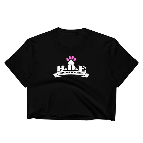 B.D.E Logo (Pink Paw) - Women's Crop Top