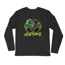 Load image into Gallery viewer, Long Sleeve Fitted Crew-Smoking Big Dawg