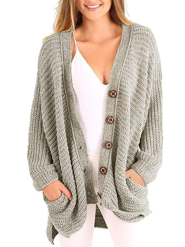 Mychelly Boyfriend Long Cable Knit Cardigan