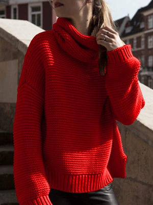 Mychelly New Cable Knit Pullover Sweater