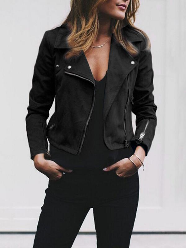 Mychelly Women Spring Zipper Jacket