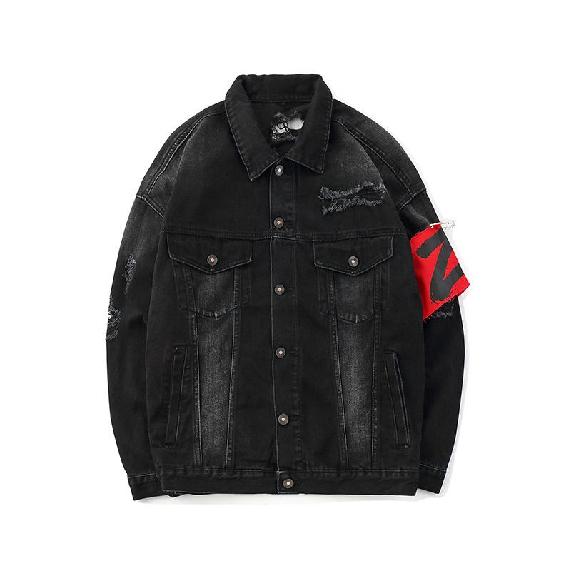 Original Coat Denim Jacket Cardigan Japanese Street Patch Decoration