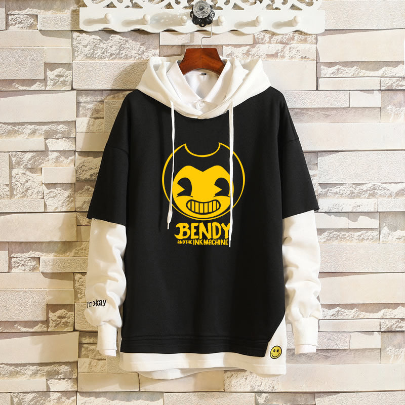 Japanese  Anime Bendy and the Ink Bendy and the ink thriller game sweatshirt