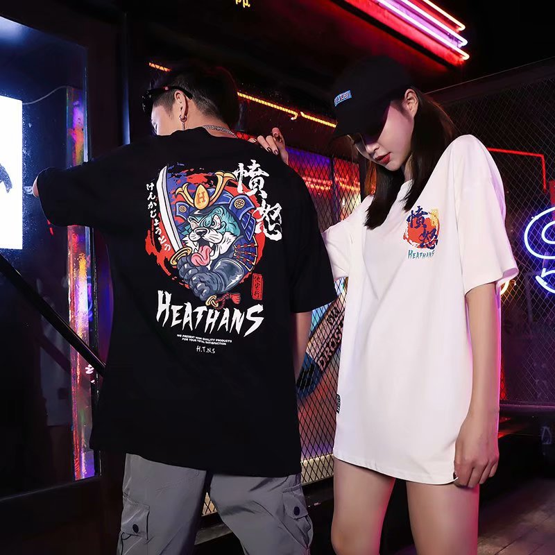 Japanese T-shirt trendy hip-hop loose clothes