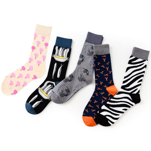 Grunge Medium and high tube cotton  skull sock