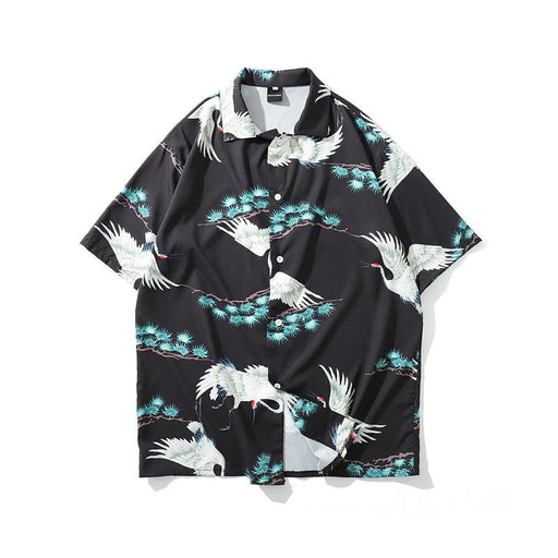 New Trend Summer Hip Hop Thin Short-Sleeved Japanese Street Shirt