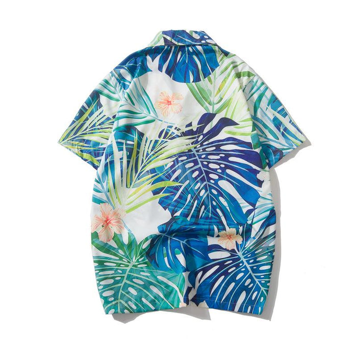 Summer Print Thin Section Flower Japanese Street Shirt
