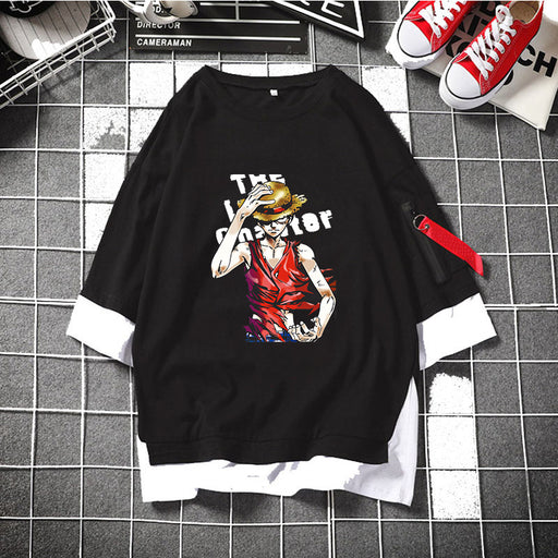 Anime Japanese One Piece Luffy Joe Barrobin Anime Pretend Two T-Shirts