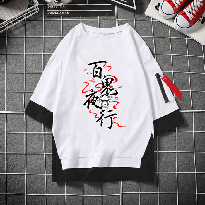 Anime Japanese Collapsed Gakuen Yae Sakura Hundred Ghosts Night Walk T-shirt