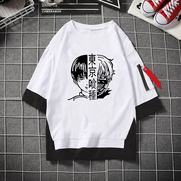Anime Japanese Two-dimensional Anime Tokyo Ghoul Kinkiyan Cartoon T-shirt