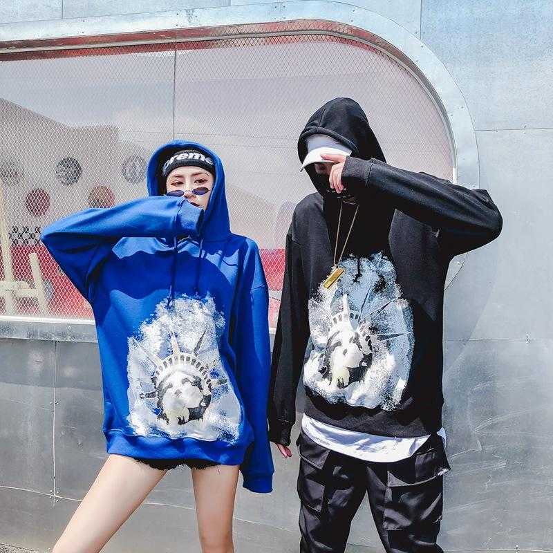 Hooded Tide Free Goddess Sweater Hip Hop Loose Japanese Street Coat