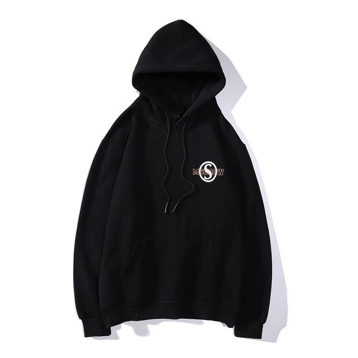 Japanese Port Wind Loose Lovers Hooded Shirt