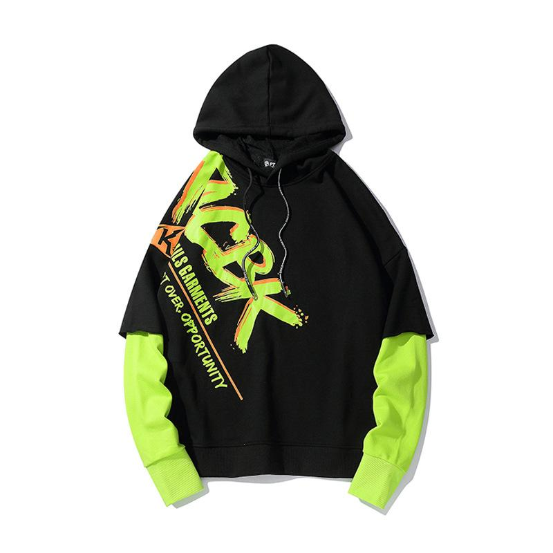Tide Brand New Fluorescent Japanese Street Hip-Hop Sweater