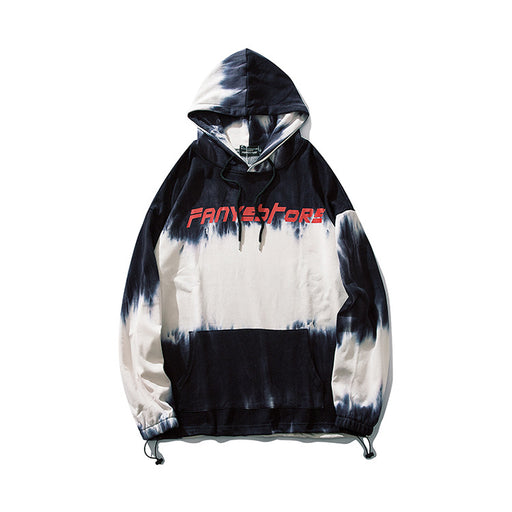 Kokoakeiko Japanese Hip HopTie-Dye Gradient Color Hooded Sweater