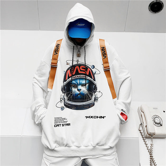 Kokoakeiko Japanese Hip Hop Hooded Sweater