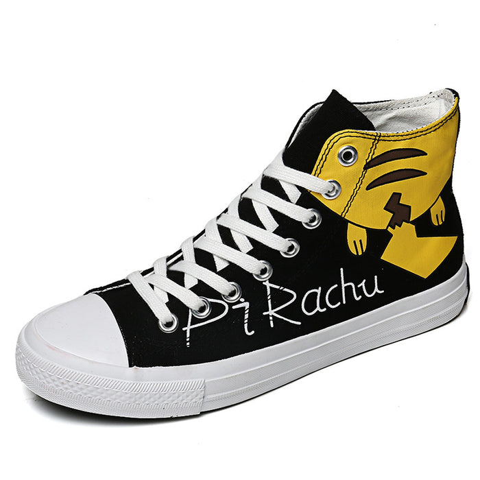 Japanese anime Pikachu casual high-top canvas shoes