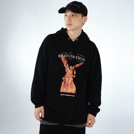 Kokoakeiko Japanese Hip Hop Old Madonna Hooded sweater