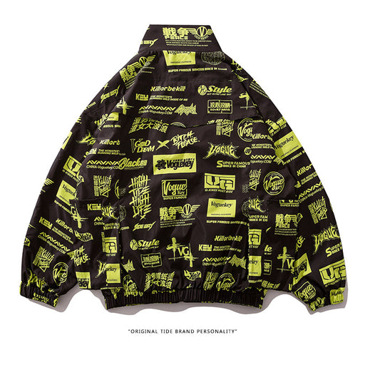 Kokoakeiko Rapper Street fashion retro Jacket