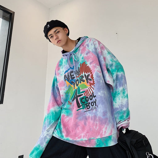 New York 4 Cool Boy Tie Dye Hoodie