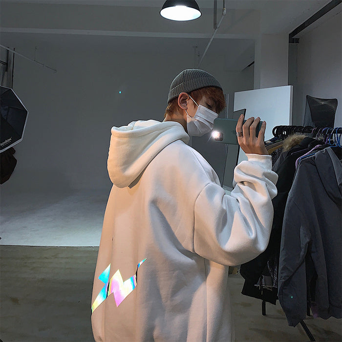 Kokoakeiko Reflective Night Light Pokemon Hoodie